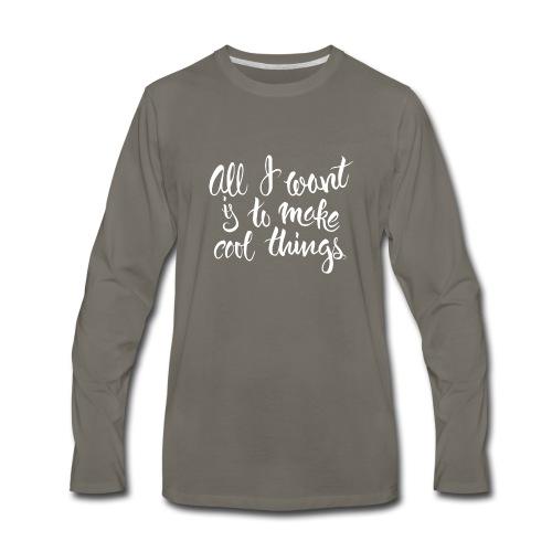 Cool Things White - Men's Premium Long Sleeve T-Shirt
