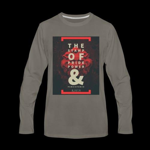 Ninth Royalty Stamp - Men's Premium Long Sleeve T-Shirt