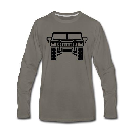 Hummer/Humvee illustration - Men's Premium Long Sleeve T-Shirt