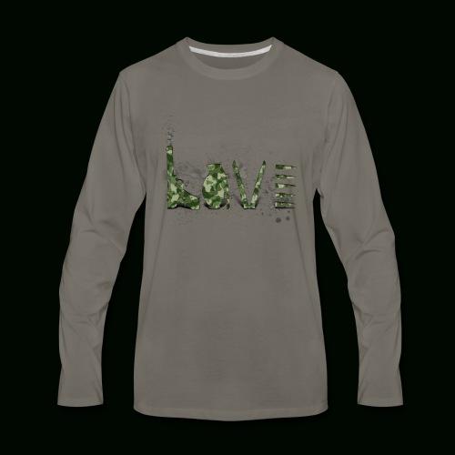 Love and War - Army - Men's Premium Long Sleeve T-Shirt