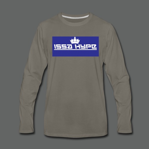 issahype_blue - Men's Premium Long Sleeve T-Shirt