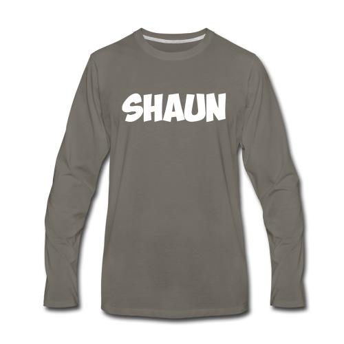 Shaun Logo Shirt - Men's Premium Long Sleeve T-Shirt