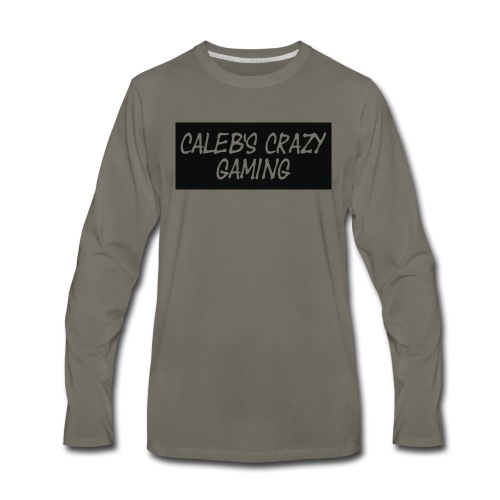 caleb's first shirt - Men's Premium Long Sleeve T-Shirt
