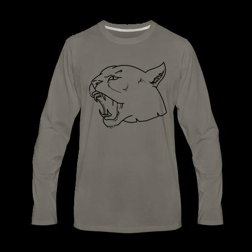 Panther head - Men's Premium Long Sleeve T-Shirt