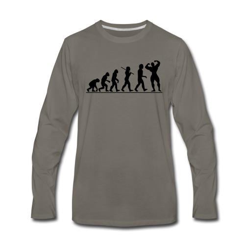 Evolution Gym Motivation - Men's Premium Long Sleeve T-Shirt