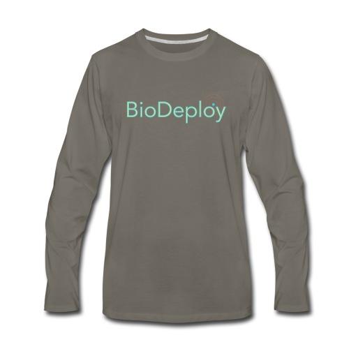 BioDeploy Logo Green Light - Men's Premium Long Sleeve T-Shirt