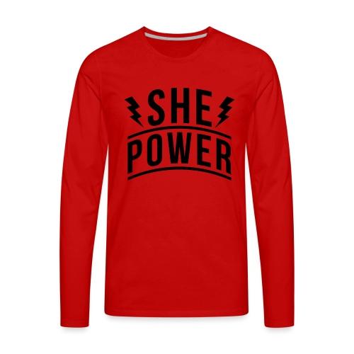 She Power - Men's Premium Long Sleeve T-Shirt