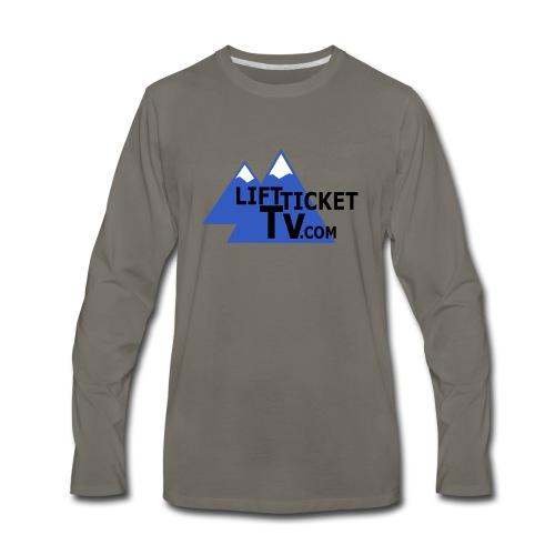 LiftTicketTV.com - Men's Premium Long Sleeve T-Shirt