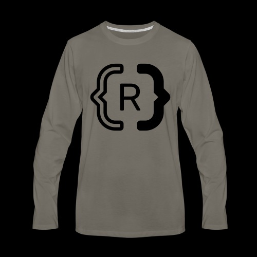 square black reswitched R logo bmx3r - Men's Premium Long Sleeve T-Shirt