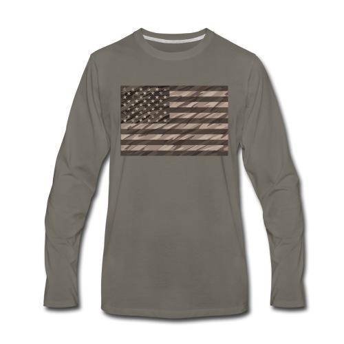 desert cammo flag t - Men's Premium Long Sleeve T-Shirt