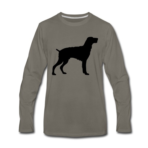 German Wirehaired Pointer - Men's Premium Long Sleeve T-Shirt