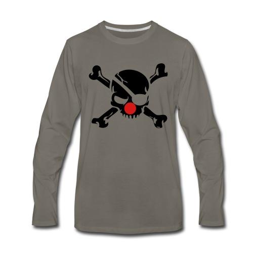 Clown Jolly Roger Pirate - Men's Premium Long Sleeve T-Shirt