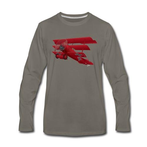 DR-1 Red Baron Triplane WWI Warbird - Men's Premium Long Sleeve T-Shirt