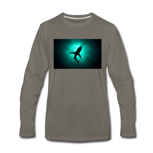Shark in the abbis - Men's Premium Long Sleeve T-Shirt