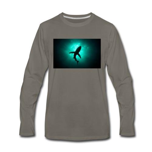 Shark in the abbis - Men's Premium Long Sleeve T-Shirt