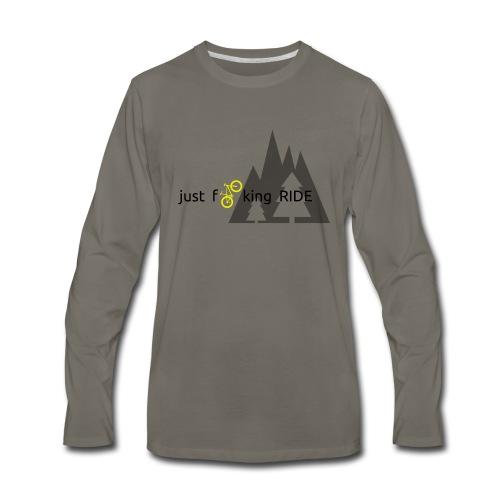 Mountain Biking JFR - Men's Premium Long Sleeve T-Shirt