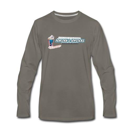 Popcorn and Joysticks Banner - Men's Premium Long Sleeve T-Shirt