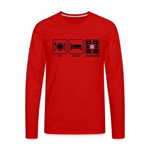 Eat Sleep Urb big fork-LG - Men's Premium Long Sleeve T-Shirt