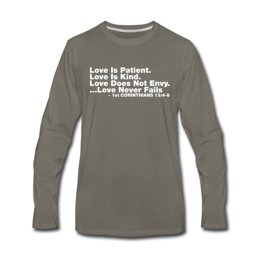 Love Bible Verse - Men's Premium Long Sleeve T-Shirt