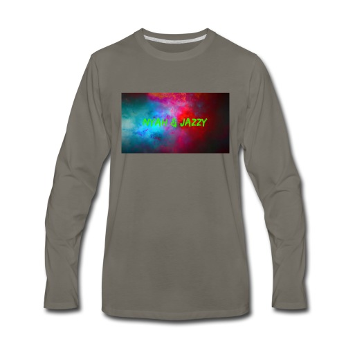 NYAH AND JAZZY - Men's Premium Long Sleeve T-Shirt
