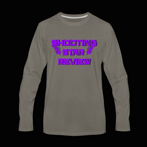 Shooting Star Review Purple Logo - Men's Premium Long Sleeve T-Shirt
