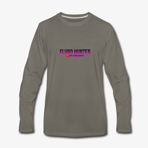 The Fluro Hunter Black And Purple Gradient - Men's Premium Long Sleeve T-Shirt