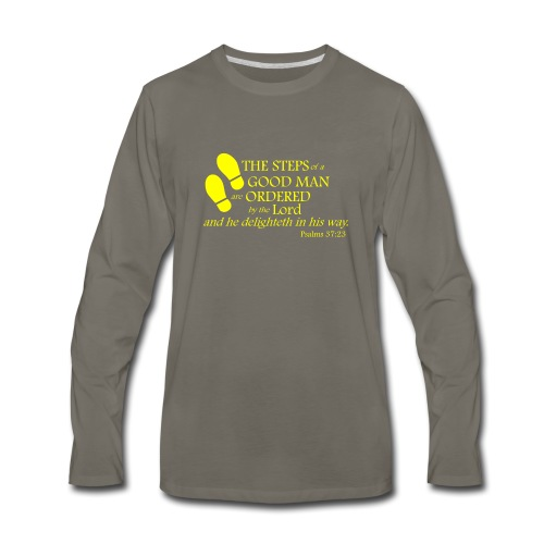Psalm 37:23 - Men's Premium Long Sleeve T-Shirt