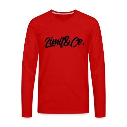 Red Burgendy T-Shirt - Men's Premium Long Sleeve T-Shirt