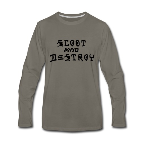 Scoot and Destroy - Men's Premium Long Sleeve T-Shirt