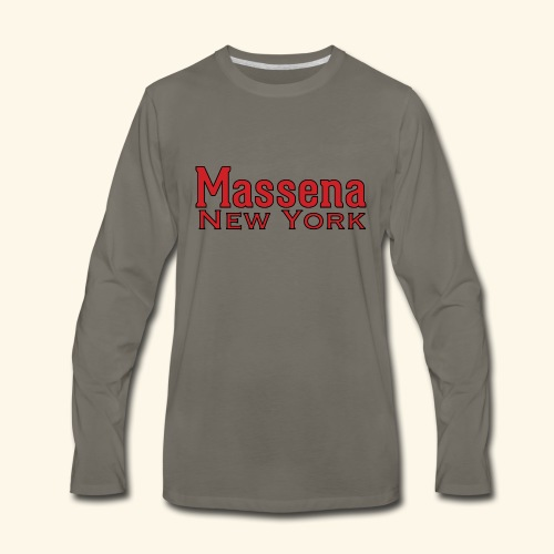 Massena New York - Men's Premium Long Sleeve T-Shirt