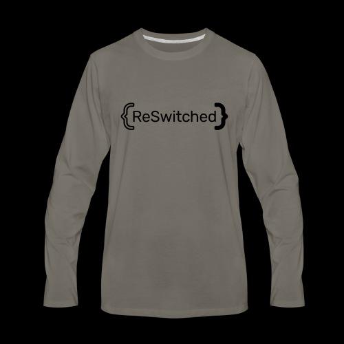 full black reswitched bmx3r - Men's Premium Long Sleeve T-Shirt