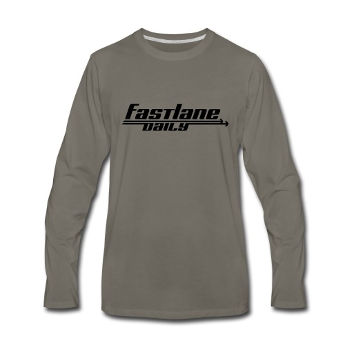 Fast Lane Daily logo - Men's Premium Long Sleeve T-Shirt
