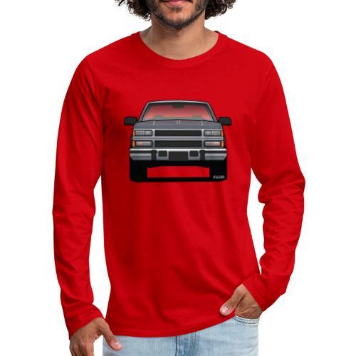 Design Icon: American Bowtie Silver Urban Truck - Men's Premium Long Sleeve T-Shirt