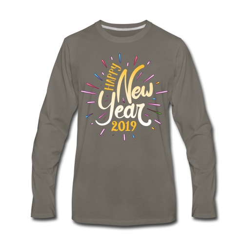 Happy New Year 2019 - Men's Premium Long Sleeve T-Shirt