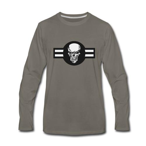 Military aircraft roundel emblem with skull - Men's Premium Long Sleeve T-Shirt