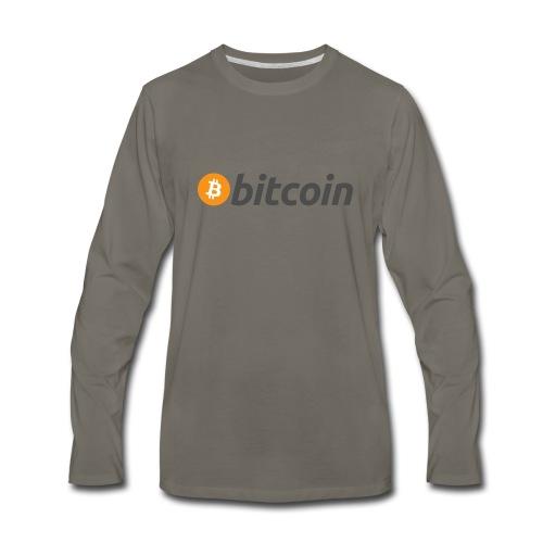 Bitcoin Logo Wear - Men's Premium Long Sleeve T-Shirt