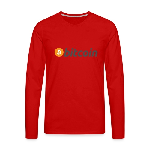 Bitcoin Logo Wear - Men's Premium Long Sleeve T-Shirt