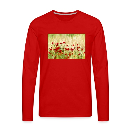 Iranian Poppies - Men's Premium Long Sleeve T-Shirt