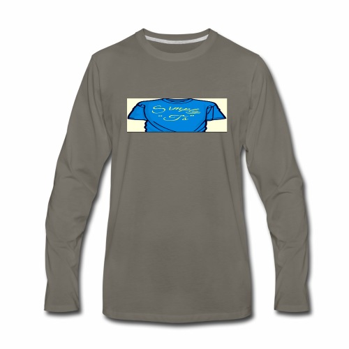 Q's Simply T's - Men's Premium Long Sleeve T-Shirt