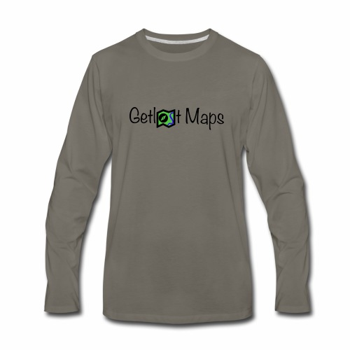 Getlost Maps Logo - Men's Premium Long Sleeve T-Shirt