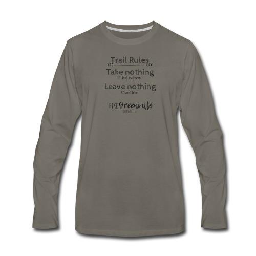 Trail Rules- Black - Men's Premium Long Sleeve T-Shirt