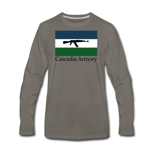 Cascadia Armory Logo - Men's Premium Long Sleeve T-Shirt