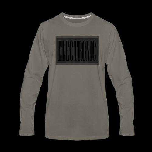 Electronic Logo - Men's Premium Long Sleeve T-Shirt