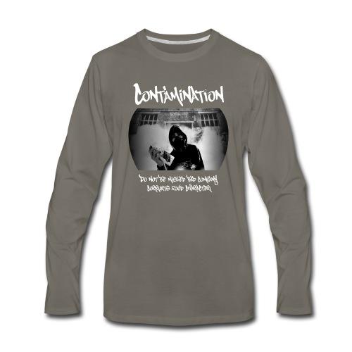 contamination front - Men's Premium Long Sleeve T-Shirt