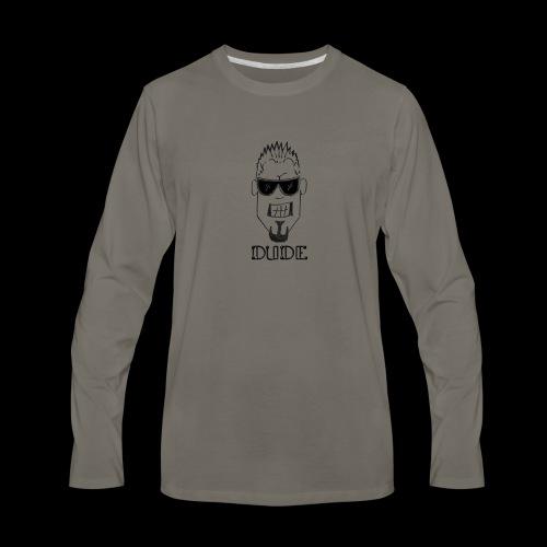 Dude Head 1 - Men's Premium Long Sleeve T-Shirt