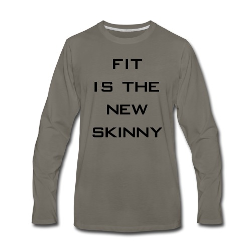The New Skinny Gym Motivation - Men's Premium Long Sleeve T-Shirt