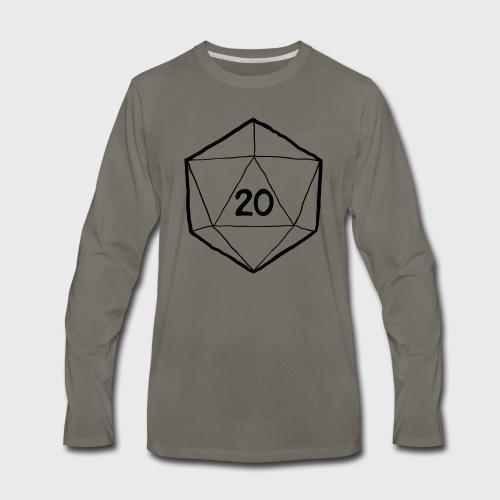 Fantasy Dice d20 - Men's Premium Long Sleeve T-Shirt