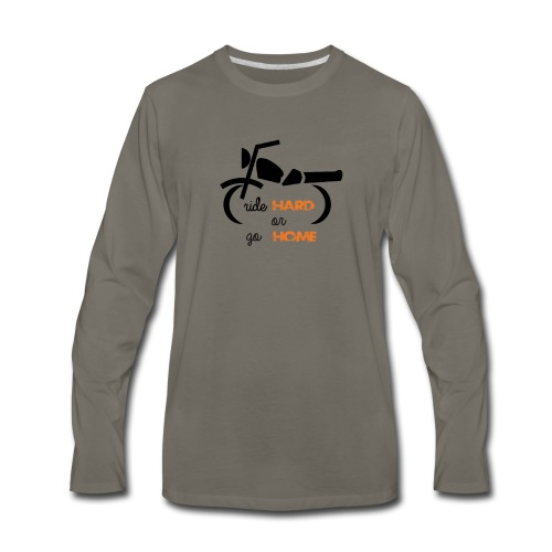 Biker Tshirt - Men's Premium Long Sleeve T-Shirt