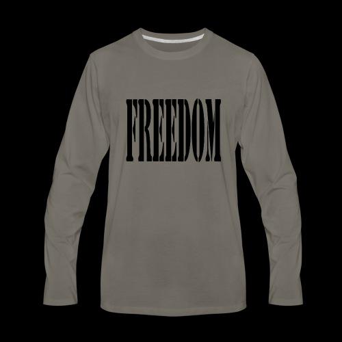Freedom Logo - Men's Premium Long Sleeve T-Shirt