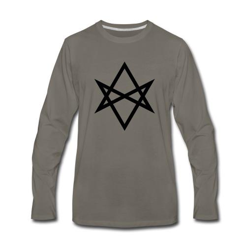 Justin James 'Hexagram' logo - Men's Premium Long Sleeve T-Shirt